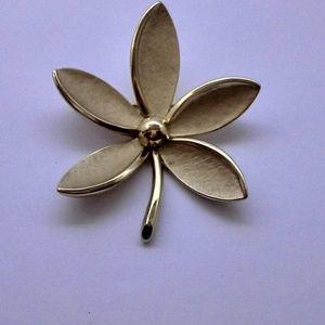 1960's Vintage Crown Trifari Floral Brooch